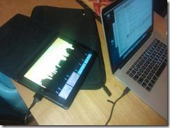 @ptrelford @qmcoetzee #theprismer on iPad from #gamecraft thanks #monogame!