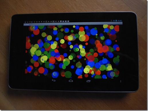 Bubbles on Nexus 7