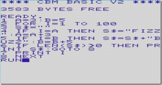 FizzBuzz Vic-20