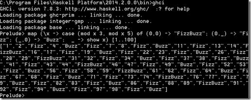 Haskell FizzBuzz