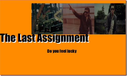 The Last Assignment - Start Screen
